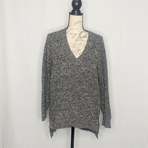EUC Express black and white marbled sweater